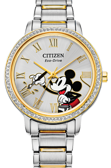 Lady's Mickey Mouse Crystal Citizen Eco-Drive Watch