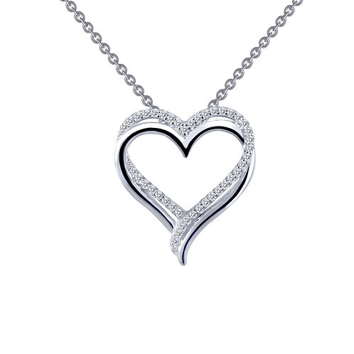 Sterling Silver Double-Heart Necklace