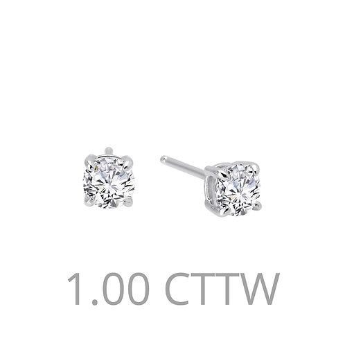 Sterling Silver 1ct Stud Earrings