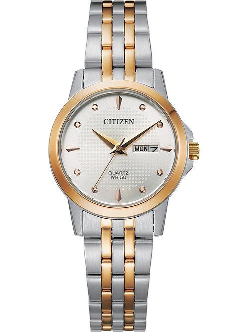 Citizen Quartz Ladies Two-Tone With Silver-White Dial