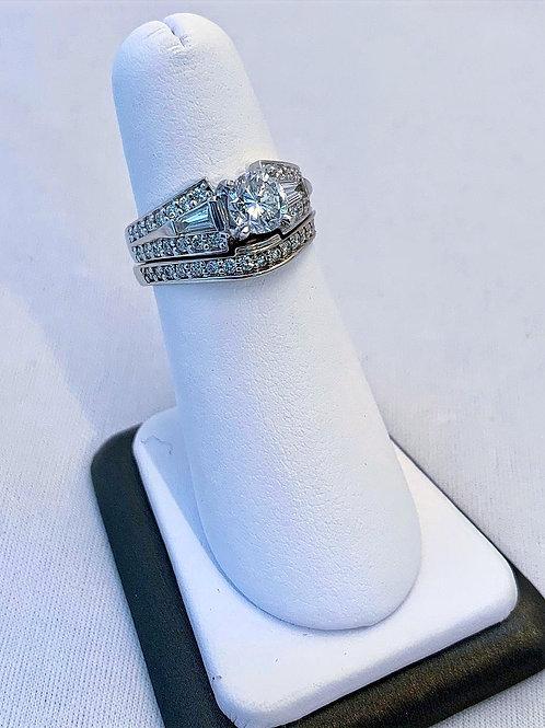 18k White Gold 1.98ct Round Diamond Wedding Set