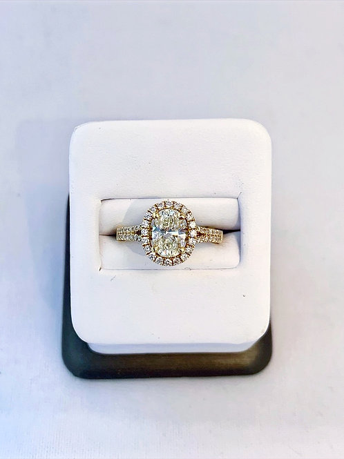 14k Yellow gold 1.55ct Oval Diamond Engagement Ring