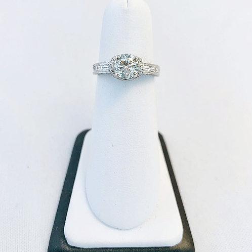 14k White Gold 1.65ct Round Diamond Engagement Ring