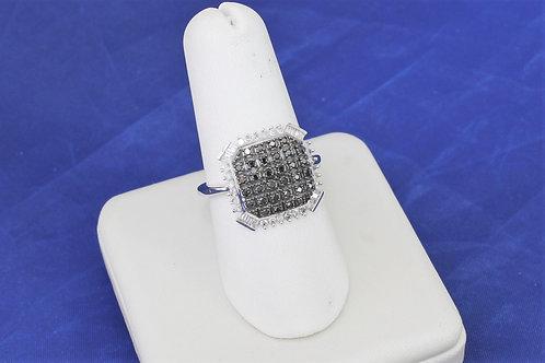 10k White Gold 0.50ct Black & White Diamond Ring