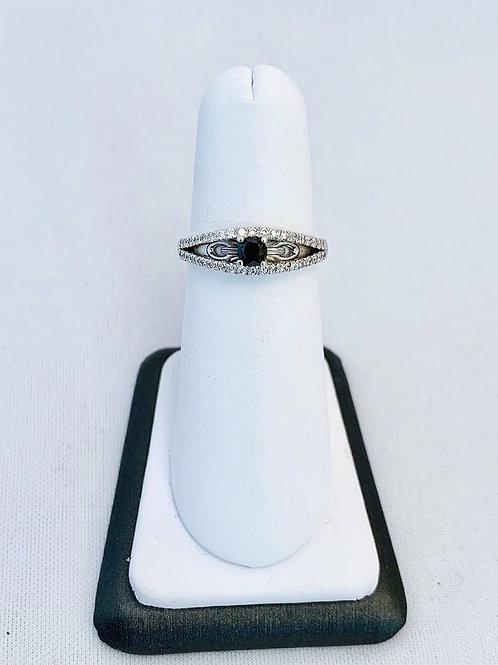 14k White Gold 0.53ct Black Diamond Ring