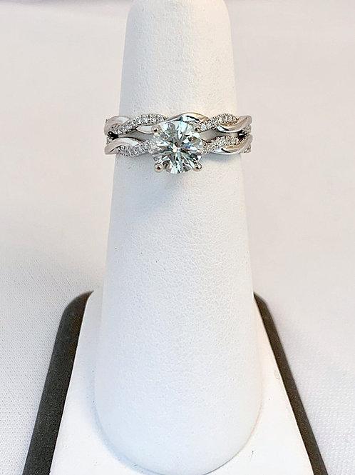 14k White Gold 1.29ct Diamond Wedding Set