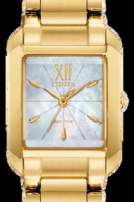 Bianca White Ladies Eco-Drive Solar Watch