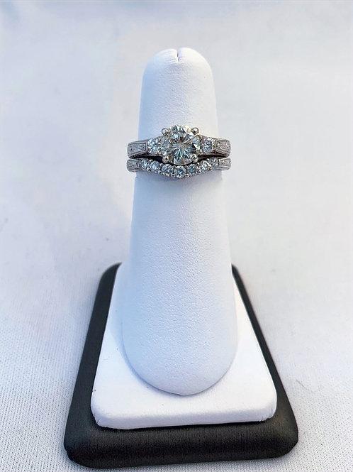18k White Gold 1.85ct Diamond Wedding Set