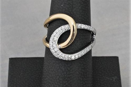14k Yellow & White Gold 0.25ct Diamond Ring