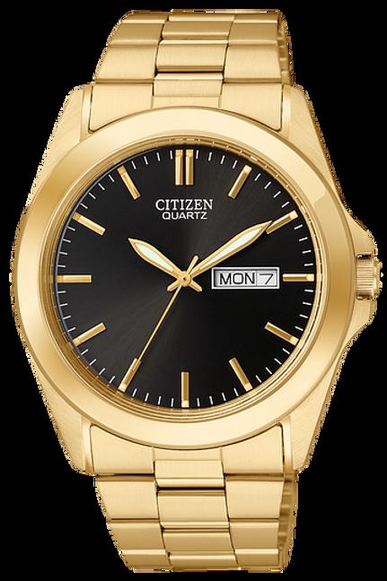 Men's Citizen Quartz Watch In Gold Tone
