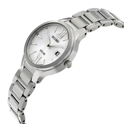 Seiko Solar Powered Stainless Steel Women's Watch