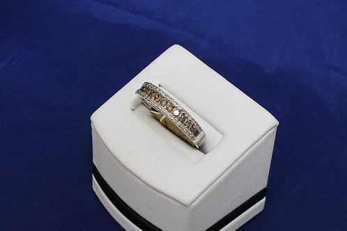10k White Gold and Chocolate Diamond Band