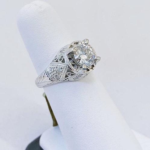 Platinum1.35ct Moissanite Engagement Ring
