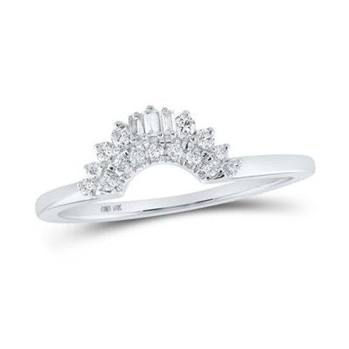 10kt White Gold & Diamond Crown Ring Guard/Enhancer