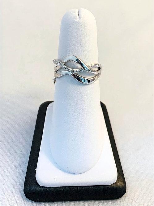 14k White Gold 0.12ct Fashion Diamond Ring