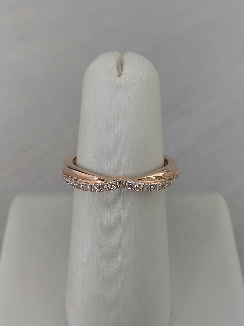 14k Rose Gold 0.19ctw Diamond Wedding Band