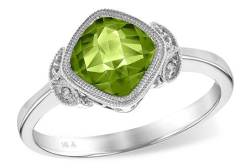 1.51ct Peridot Ring