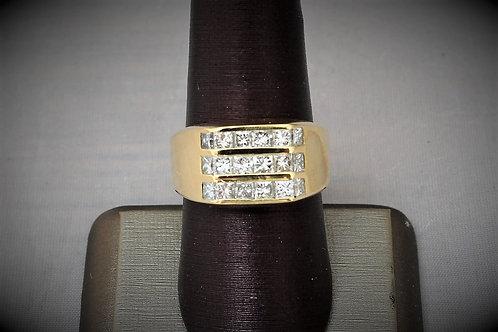 18k Yellow Gold Men's Diamond Ring