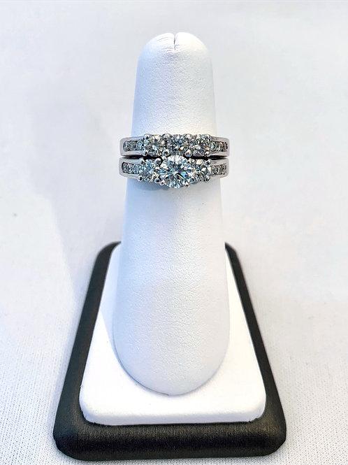 14k White Gold 2.00ct Round Diamond Engagment Ring