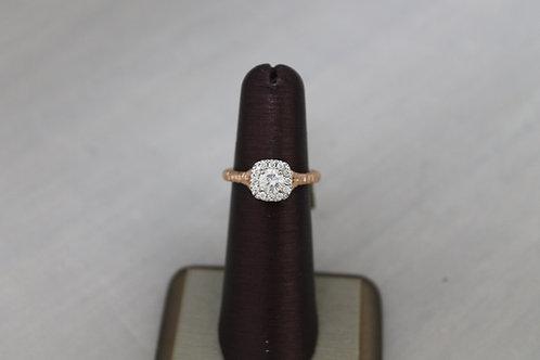 14k Rose Gold 0.50ct Diamond Ring