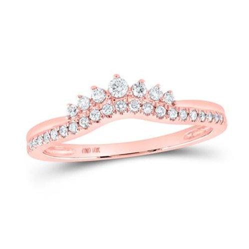 10kt Rose Gold Crown Ring Enhancer/Wedding Band