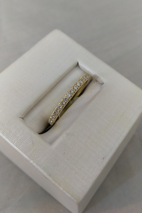 14k Yellow Gold 0.25ctw Diamond Wedding Band