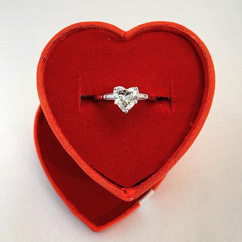 14kt White Gold 1.05 ct Heart Diamond