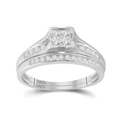 10kt White Gold 0.50ct Diamond Wedding Ring Set