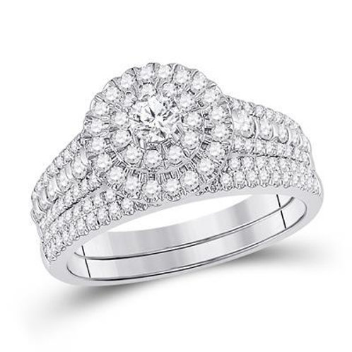 10k White Gold 1.00ct Diamond Wedding Set