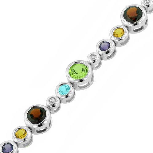 Sterling silver multi-color bracelet