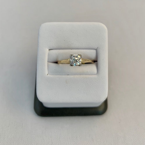 0.50 Carat Old Miners Cut Engagement Ring