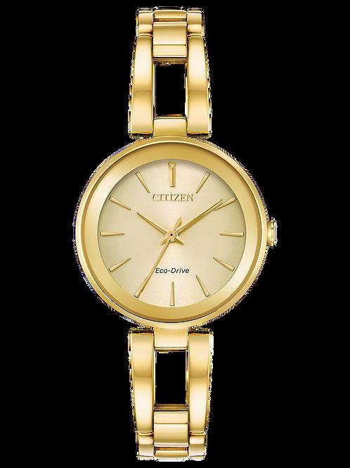 Axiom : Ladies Citizen Eco-Drive Gold-Tone Solar Watch