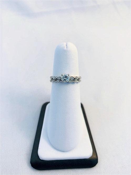 14k White Gold 0.44ct Round Diamond Wedding Set