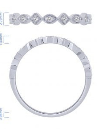 10k White Gold Stackable Diamond Band