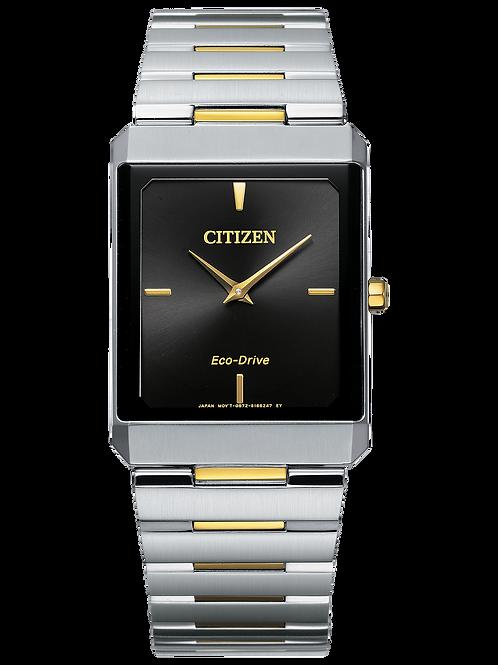 Stiletto Two-Tone Unisex Eco-DriveSolar Watch