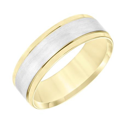 14k Two-Tone Gold Men's Wedding Band