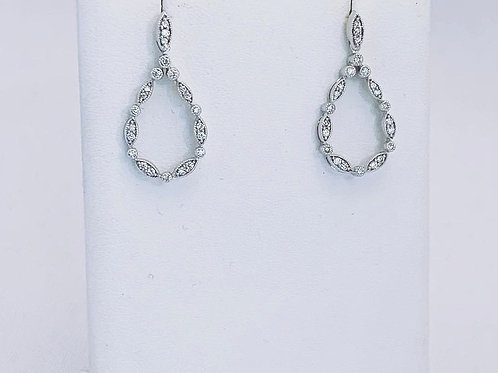 10k White Gold 0.26ct Diamond Chandelier Earrings
