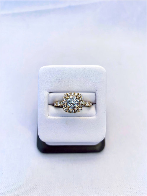 14k Yellow Gold 1.51ct Round Diamond Engagement Ring