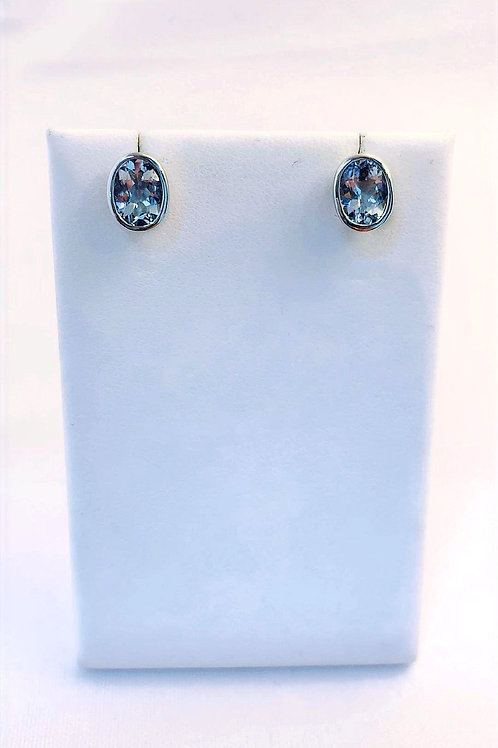 10k White Gold 2.50ct Aquamarine Earrings