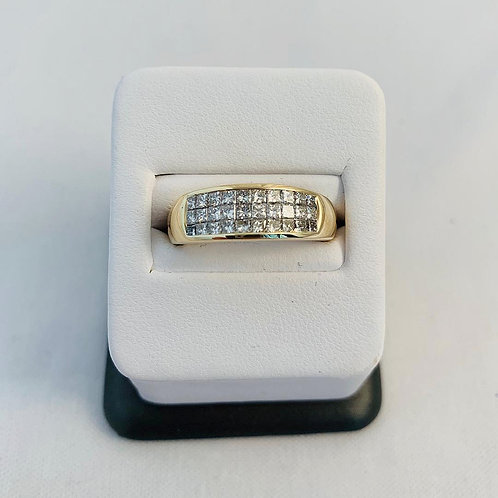 14k Yellow Gold 0.50ct Diamond Band