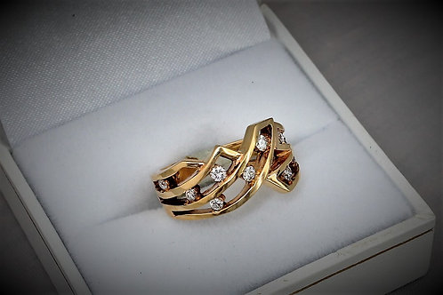 14k Yellow Gold 0.25ct Diamond Ring
