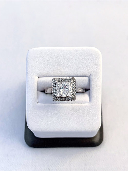 14k White Gold 2.16ct Princess Cut Diamond Engagement Ring