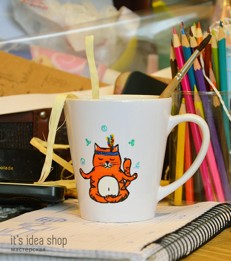 чашка, подарок, кот