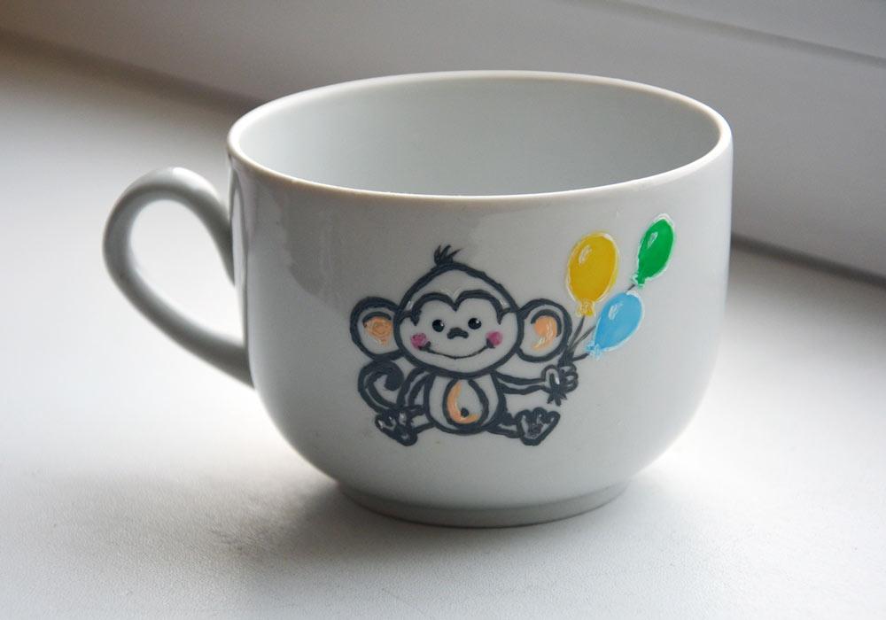Чашечка Обезьянка