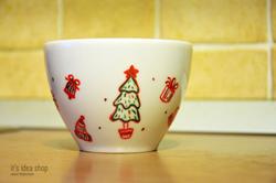 новый год, чашка, подарок
