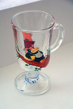 Чашка Ворона и Лисица