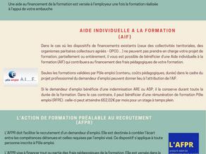 LES DISPOSITIFS FORMATION A DESTINATION DES DEMANDEURS D'EMPLOI