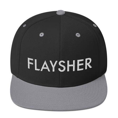Flaysher (3D Puff) Snapback Hat