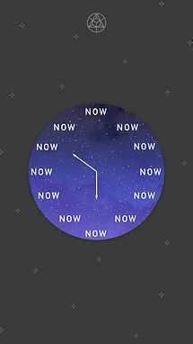 clock now be here now wallpaper