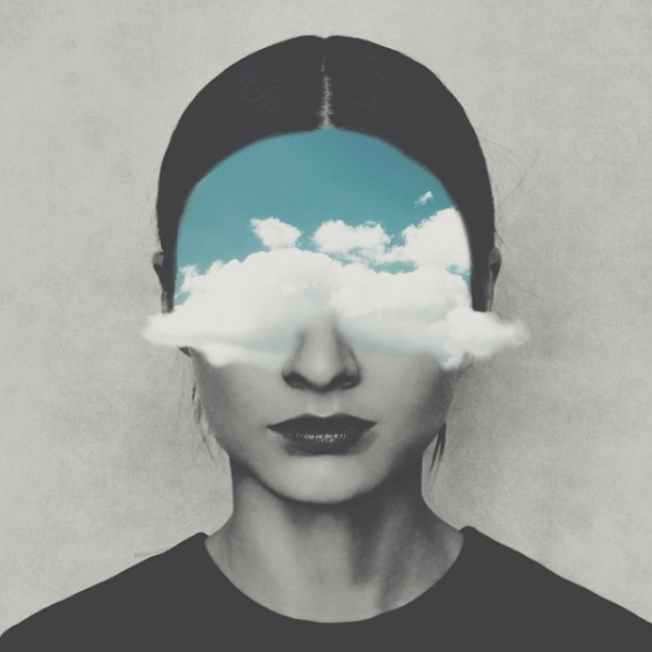 clouds, art, illustration, mind
